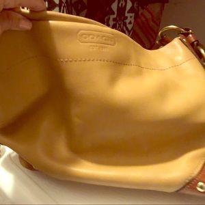 Camel leather Coach satchel